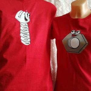 Marškinėliai su spauda poroms