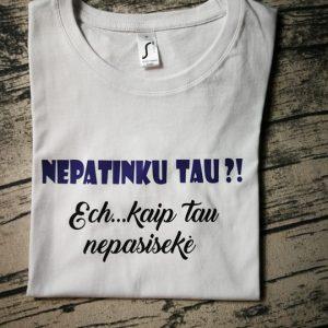 marškinėliai su spauda
