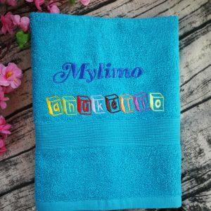 siuvinėtas rankšluotis