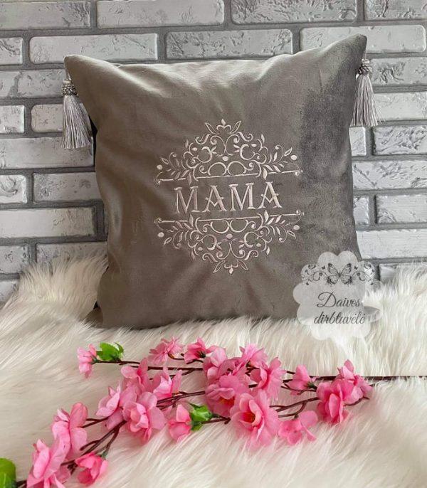 siuvinėta pagalvėlė